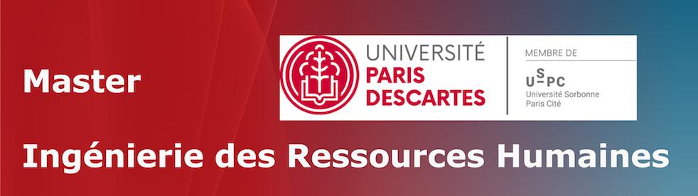Master Ingénierie des Ressources Humaines - Université Paris Descartes/Université de Paris