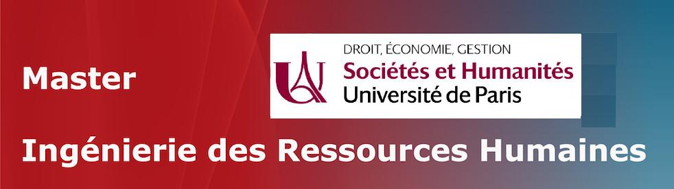 Master Ingénierie des Ressources Humaines - Université de Paris